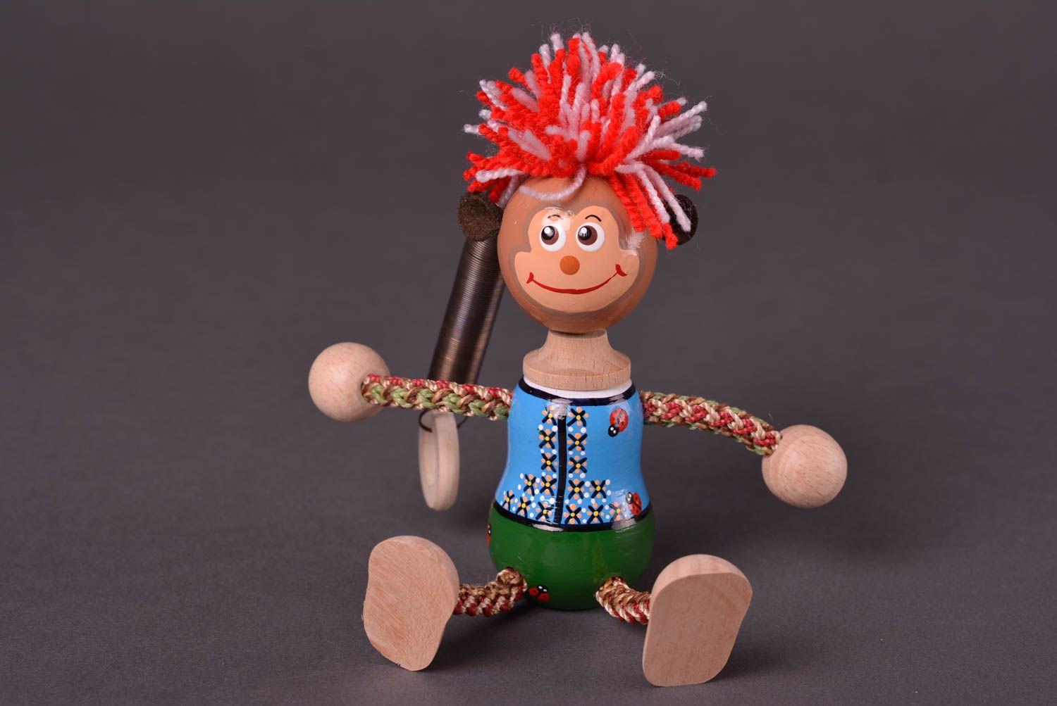 Handmade wooden toy unusual designer accessories beautiful lovely doll photo 1