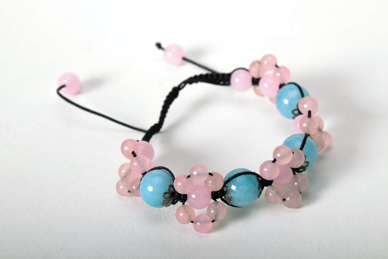 Homemade bracelet with natural stones photo 3