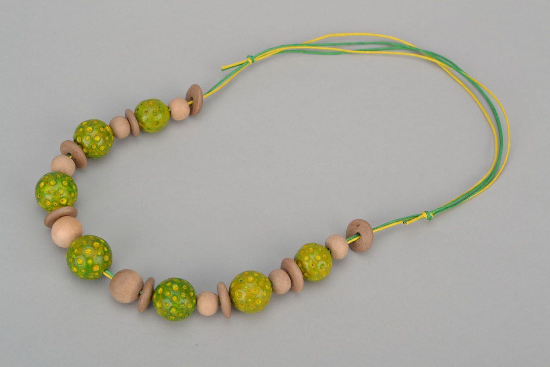 Clay bead necklace photo 3