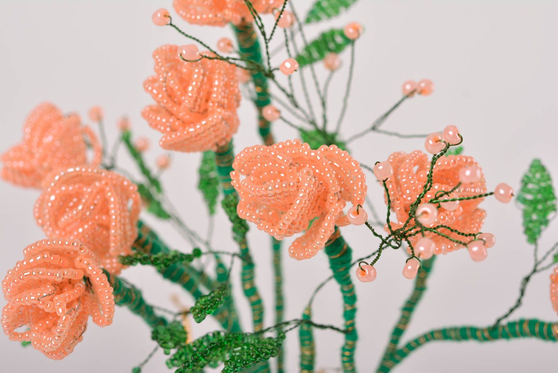 С бисера цветы фото