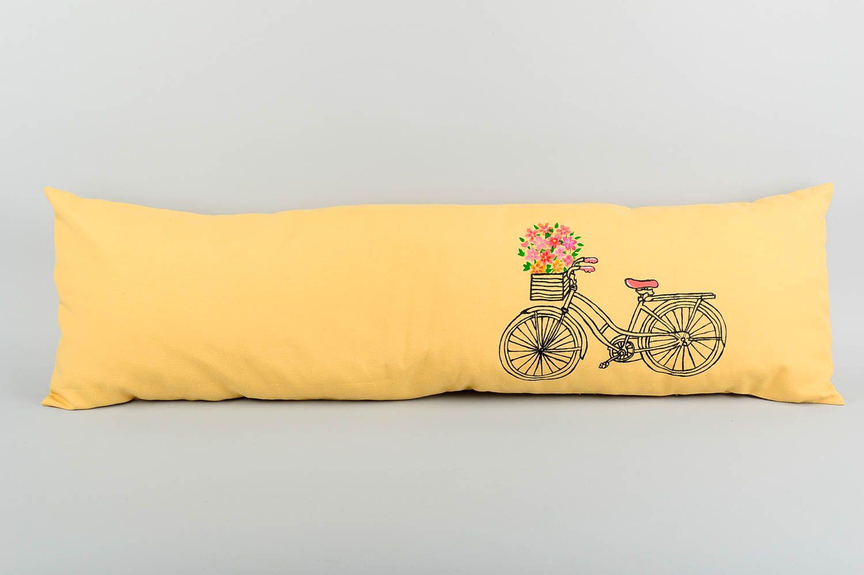 Langes Kissen handmade Schlafzimmer Deko Sofa Kissen Wohn Accessoire lustig