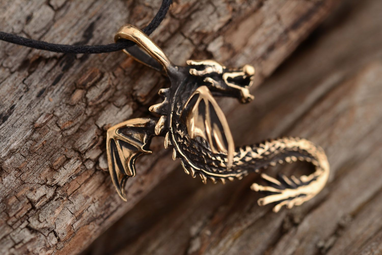 Bronze pendant Dragon photo 2