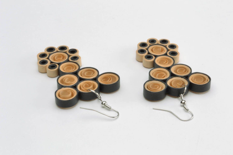 Long pendant paper earrings  photo 5
