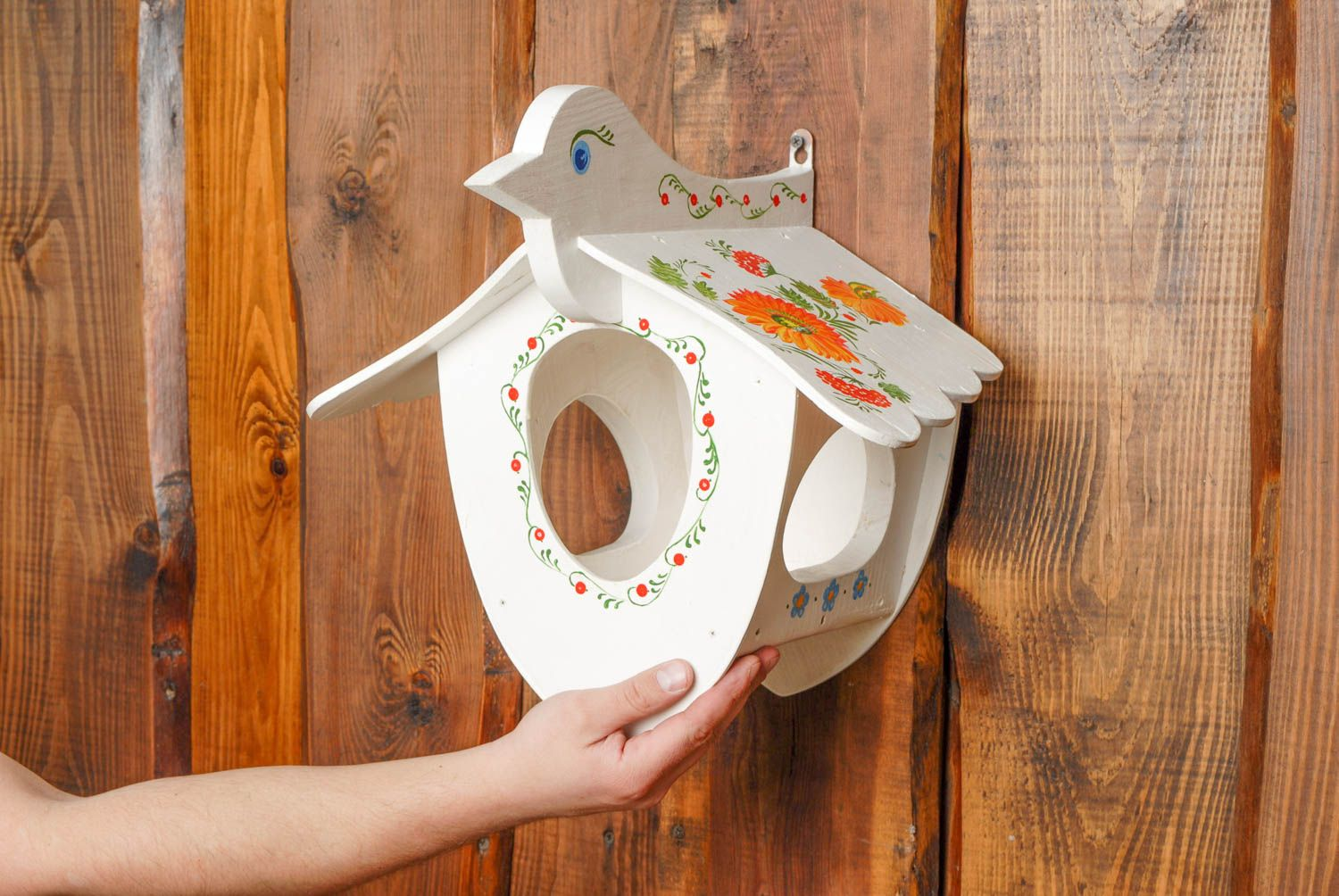 pet houses Painted handmade wooden nest box - MADEheart.com