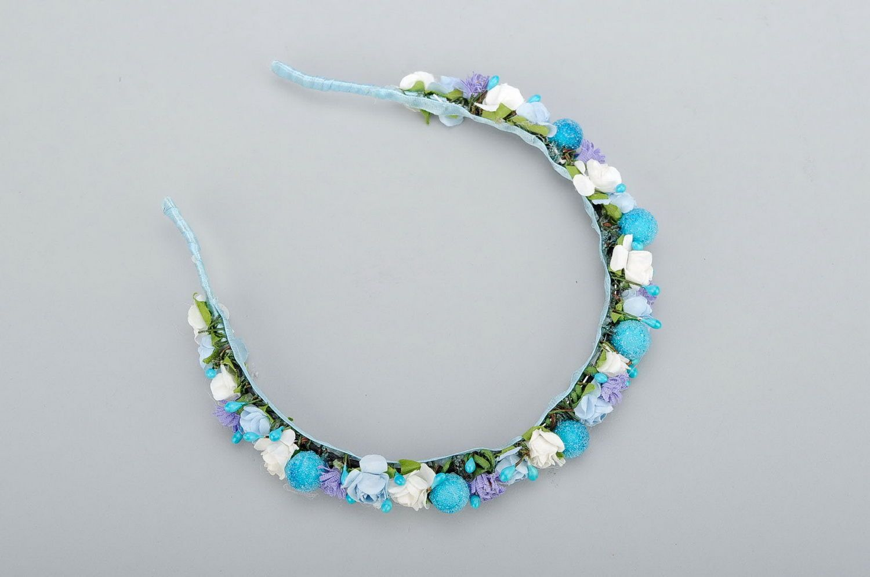 headbands and wreaths Headband in blue shades - MADEheart.com