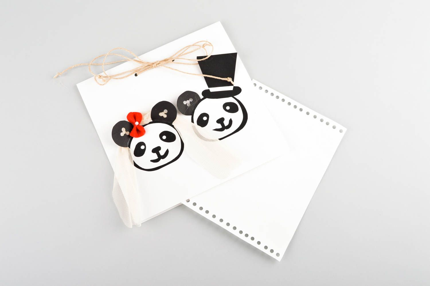 Handmade cardboard postcard designer post card with picture greeting cards photo 4