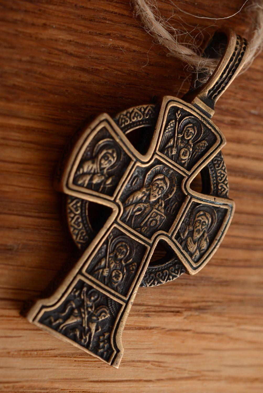 Крестик из бронзы ручной работы  фото 1