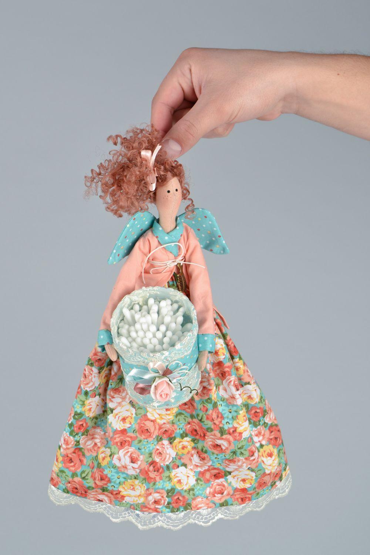 Organizador para baño con forma de muñeca de tela ...