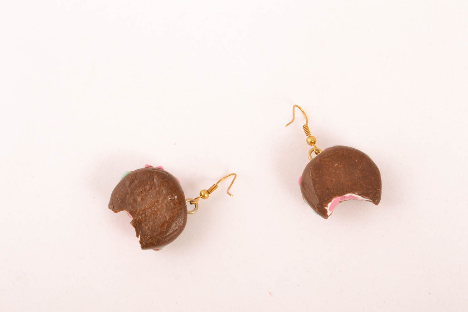 Polymer clay earrings Sweets photo 3