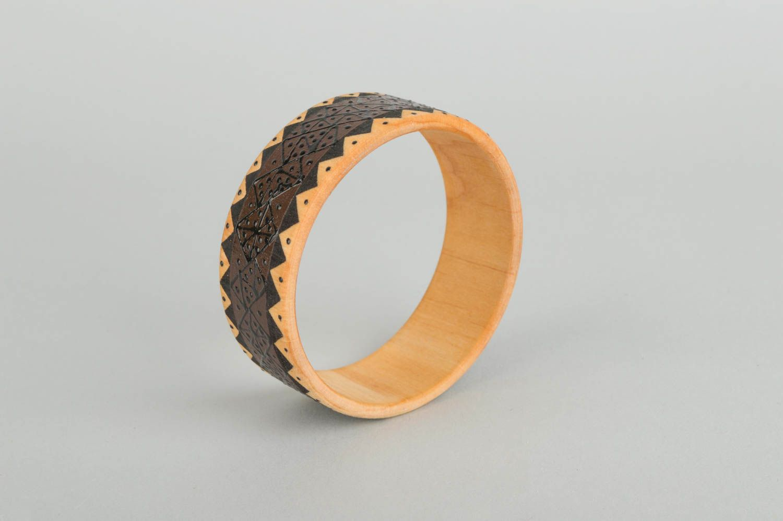 Браслеты ручной работы браслет из дерева красивый браслет дизайнерское украшение фото 5