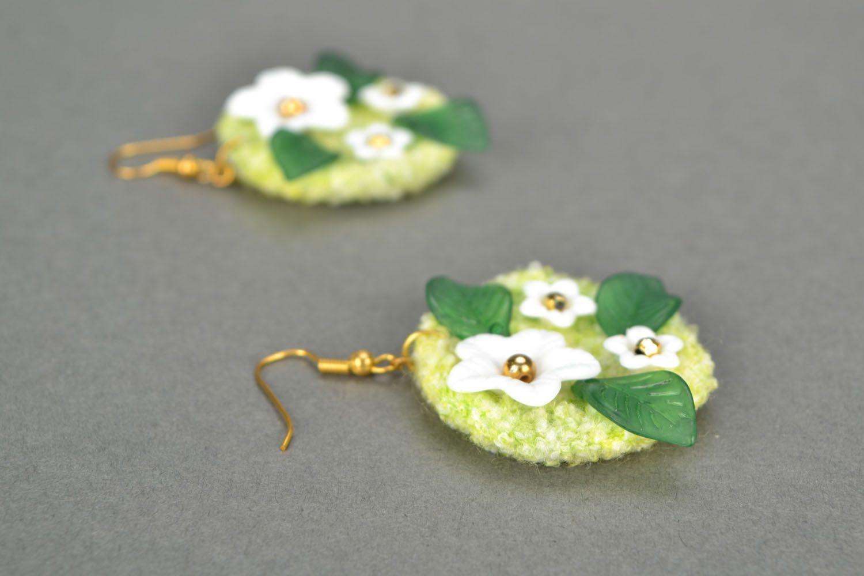 Gehäkelte Ohrringe handmade Frühling foto 1