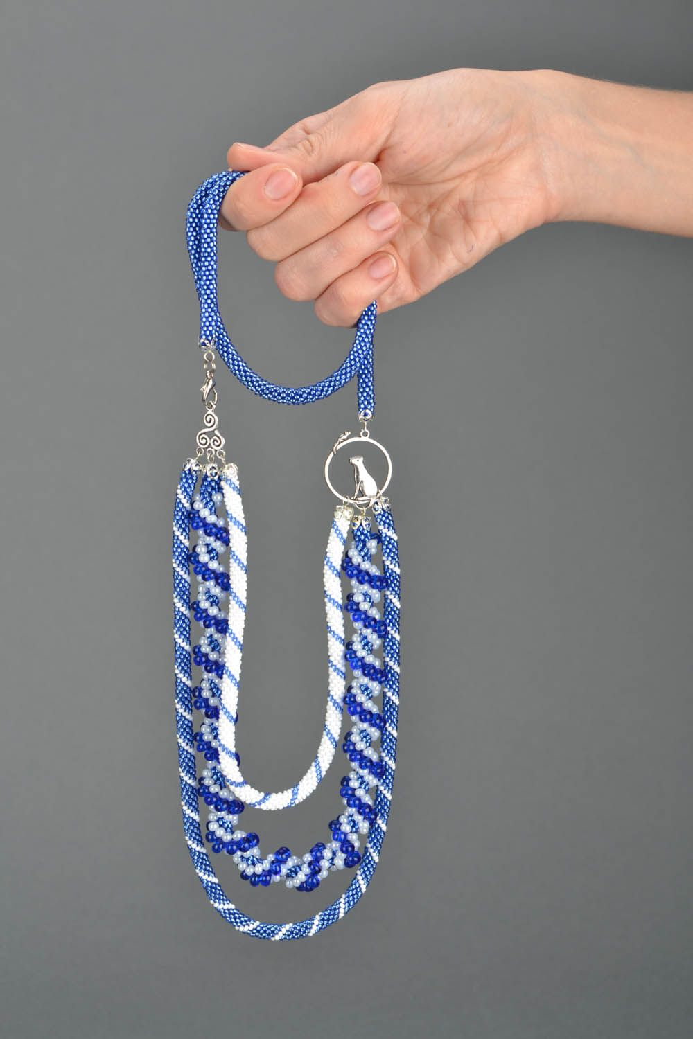 Beaded necklace Rime photo 2