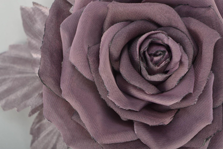 Flower brooch-hair pin Pastel Rose photo 3