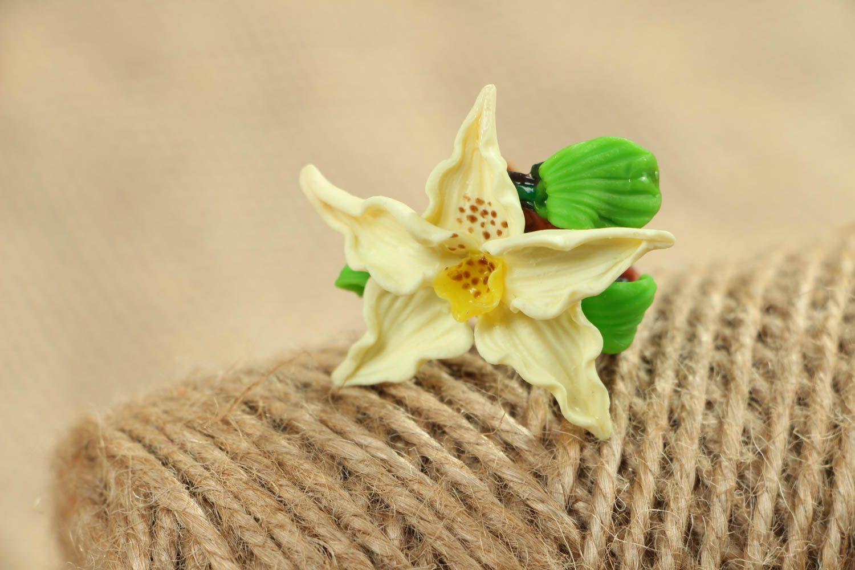 Blume Ring aus Polymerton foto 5