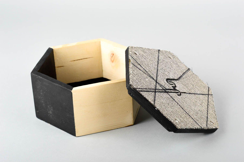 Madeheart caja de madera hecha a mano joyero decorado - Cajas de madera para regalo ...