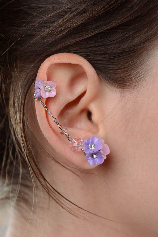 Lilac cuff earrings photo 3