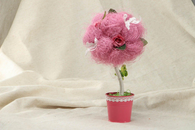 Pink topiary made of natural materials photo 1