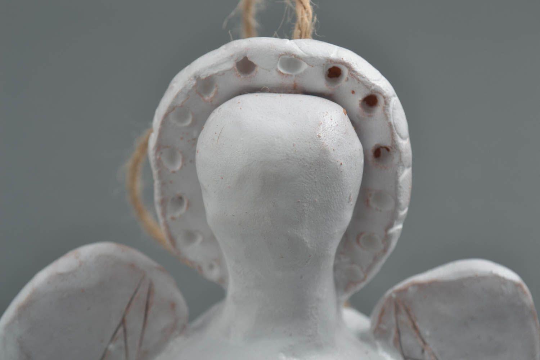 Homemade ceramic figurine handmade clay bell pottery art interior decorating photo 3