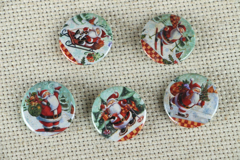 Set of Christmas badges photo 1