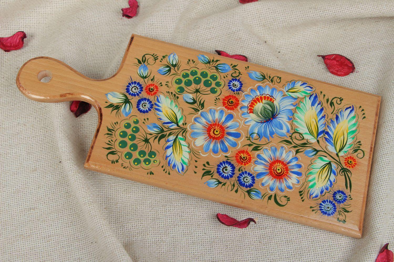 Madeheart tabla para cortar de madera con pintura hecha for Pintura para madera