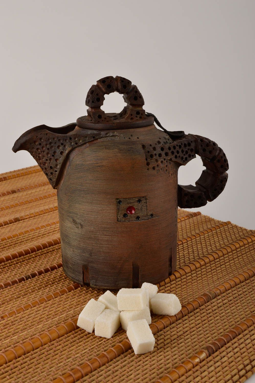 tea pots and coffee pots Handmade high ceramic teapot unusual clay kitchenware designer teapot - MADEheart.com