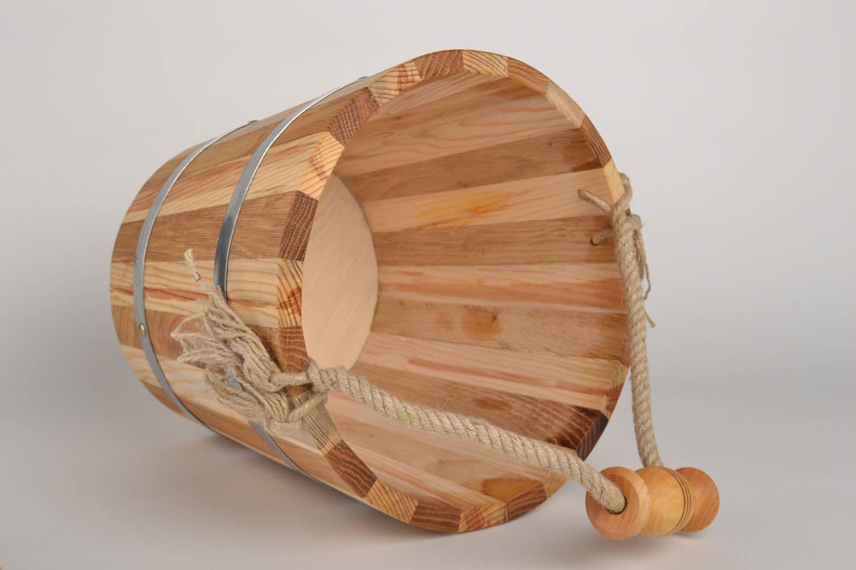 Madeheart > seau de sauna fait main accessoire de sauna 15 l bois ...