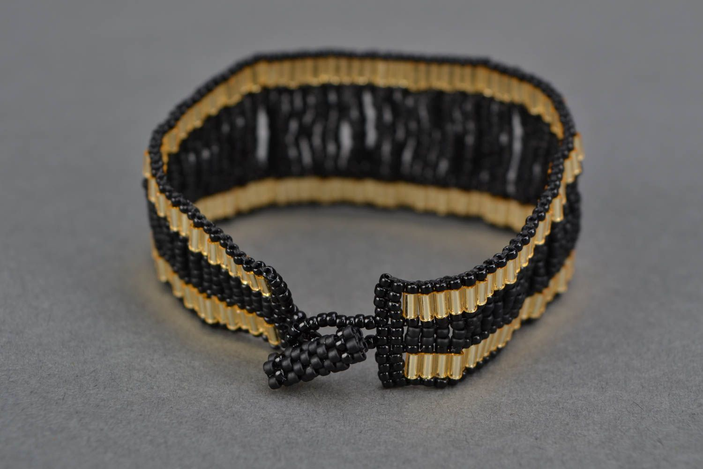 Elegant evening beaded bracelet photo 4