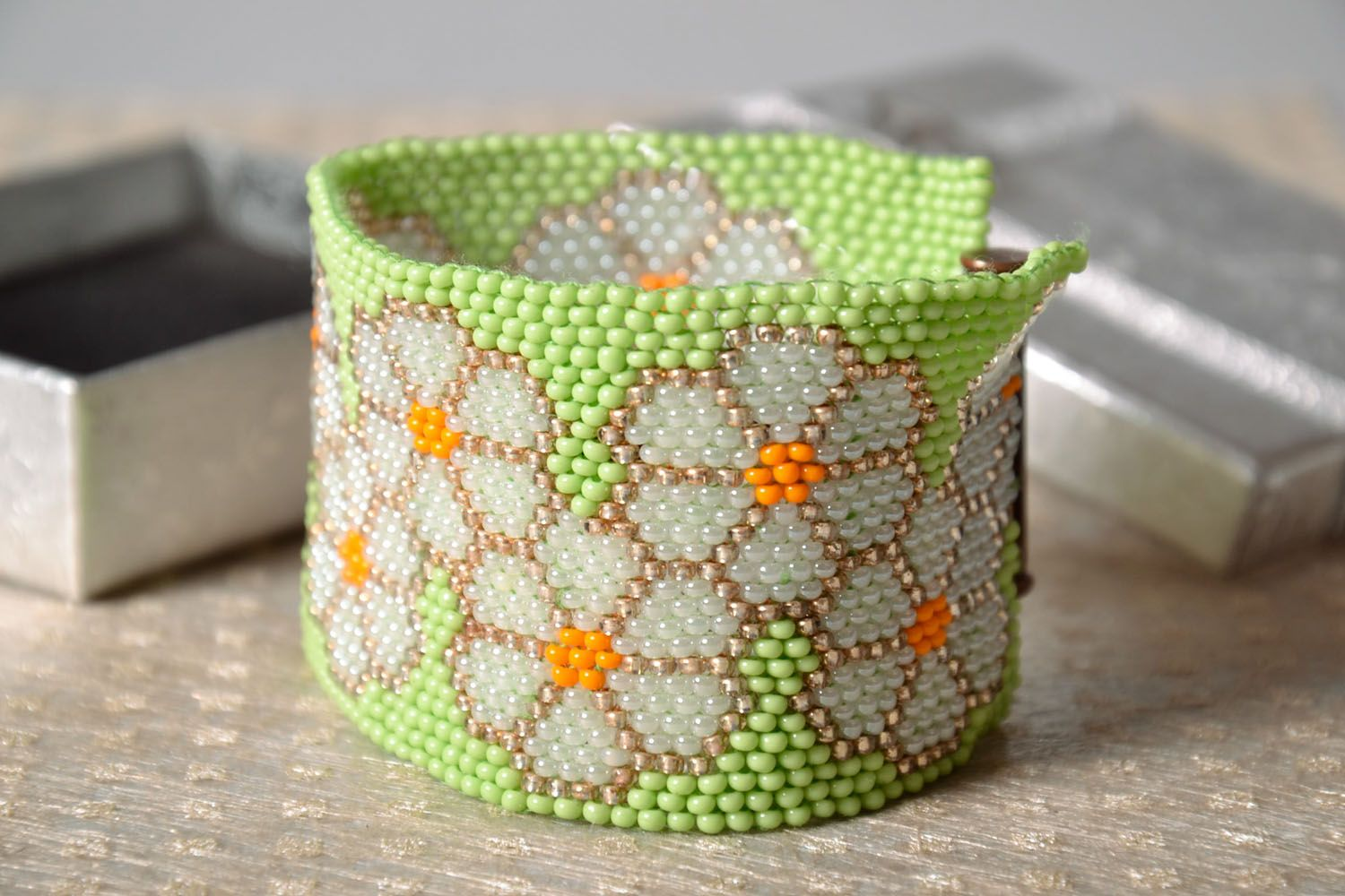 Beautiful beaded bracelet photo 1
