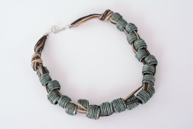 Waxed cord necklace Electro photo 3