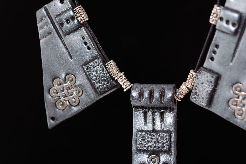 Необычный набор украшений из полимерной глины  фото 5