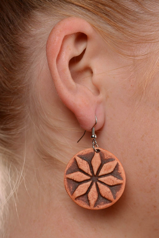 Clay earrings Female Alatyr photo 5