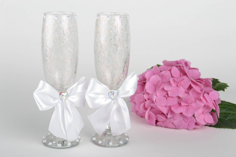 Madeheart copas decoradas para boda con lazos envases de for Copas decoradas a mano