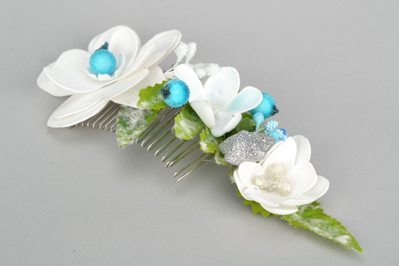 Unusual flower comb photo 3