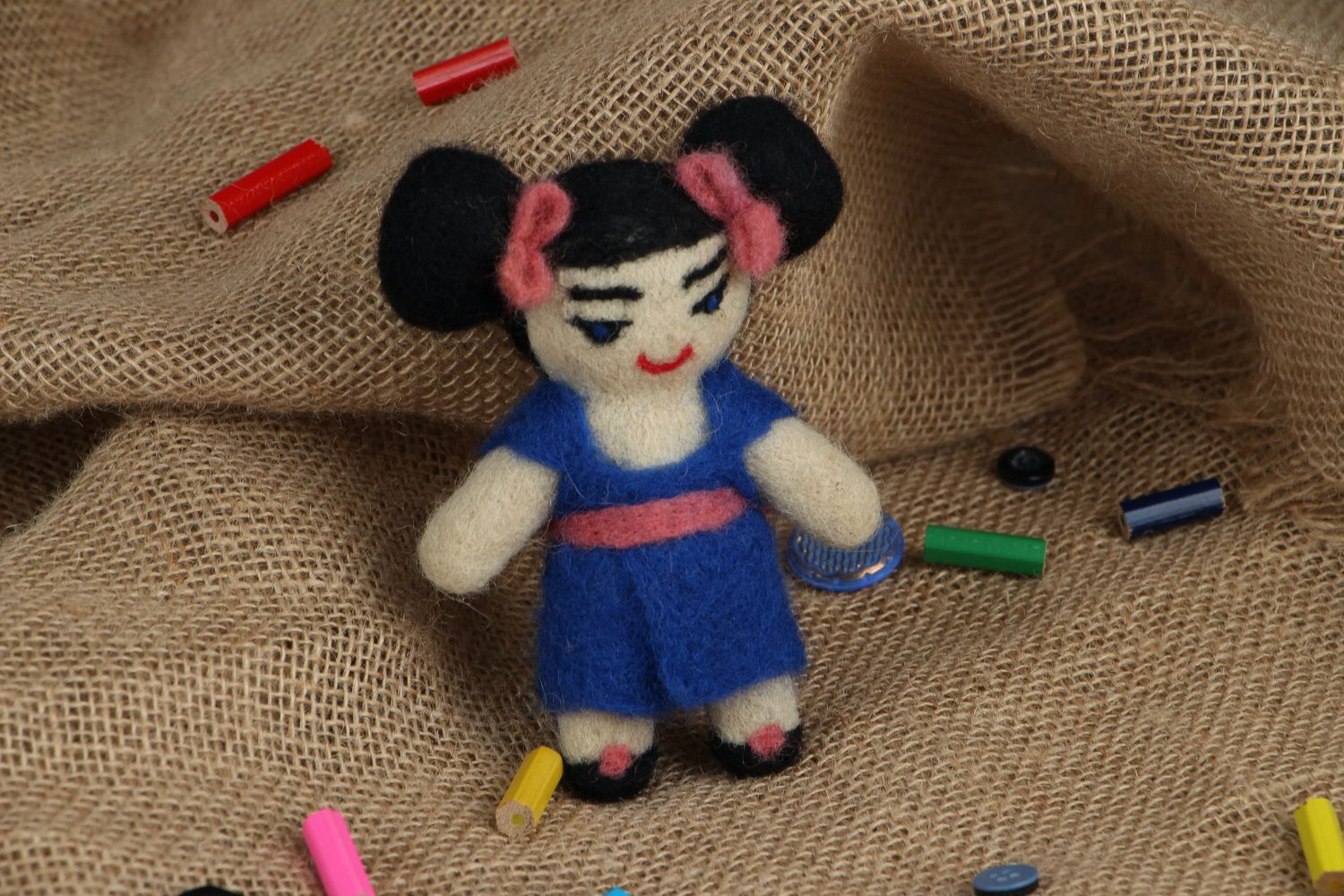 Designer's toy made of wool Japanese photo 5