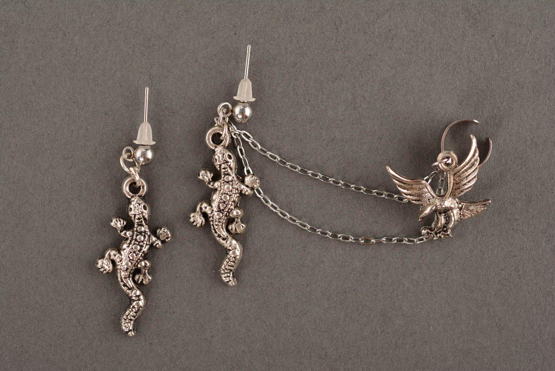 Steel cuff earrings Forest Kingdom photo 2