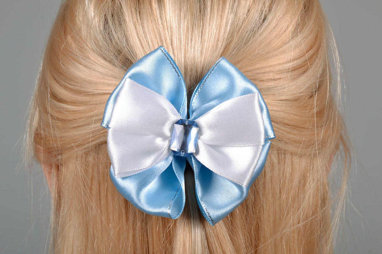 Satin bow hair clip photo 1