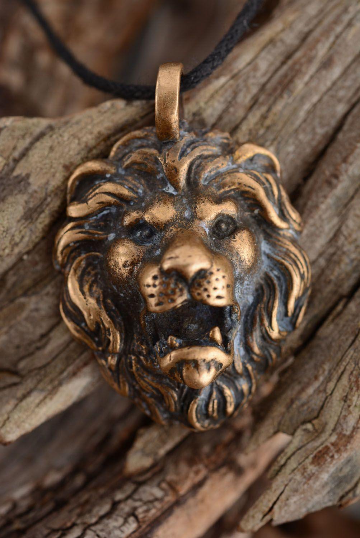 Handmade bronze pendant photo 1