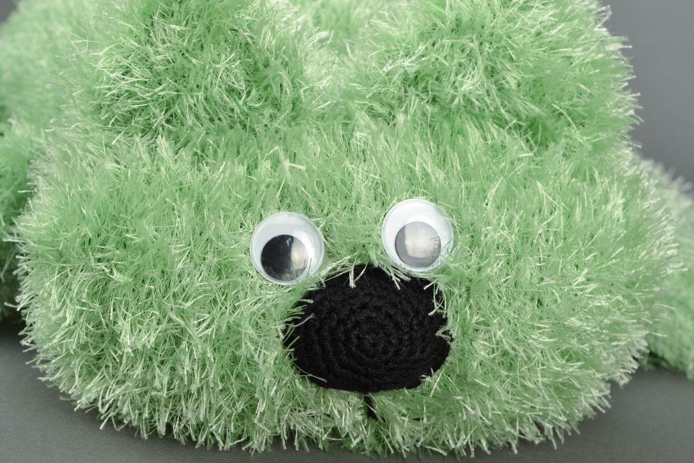 pillow toys Green knitted pillow pet Cat - MADEheart.com