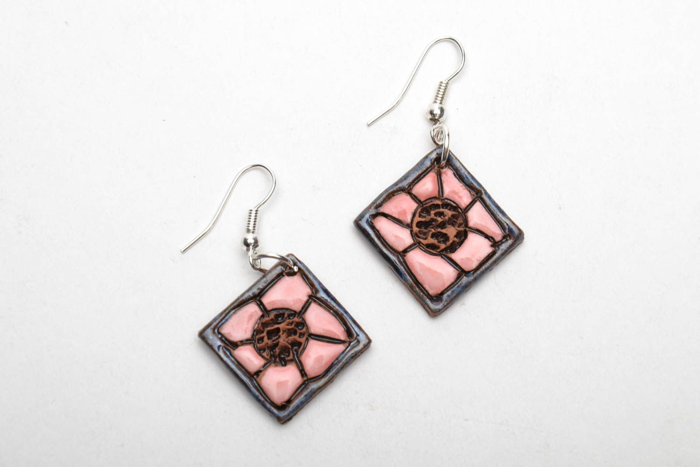 Unusual ceramic earrings photo 3