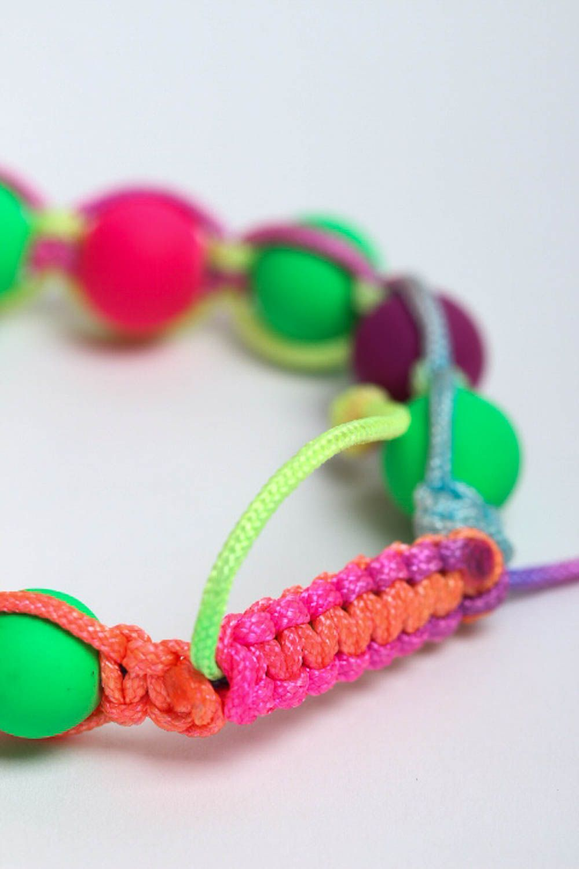 Handmade beaded bracelet summer bracelet interesting jewelry stylish accessories photo 4