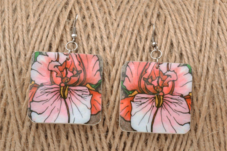 Ohrringe mit Blumen foto 1
