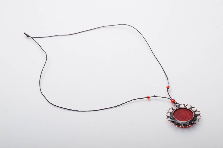 Glass and metal pendant photo 4
