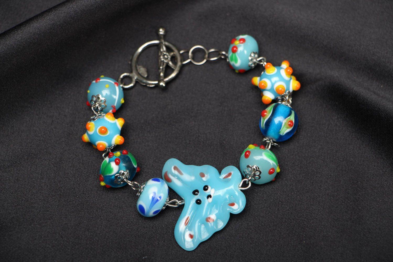 Bright children's beaded bracelet photo 1