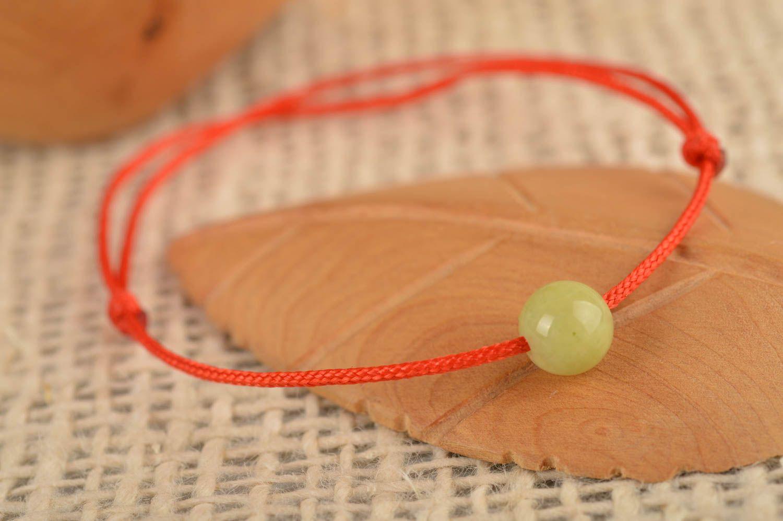 Украшение ручной работы модный браслет с оливковой бусиной красивый браслет фото 1