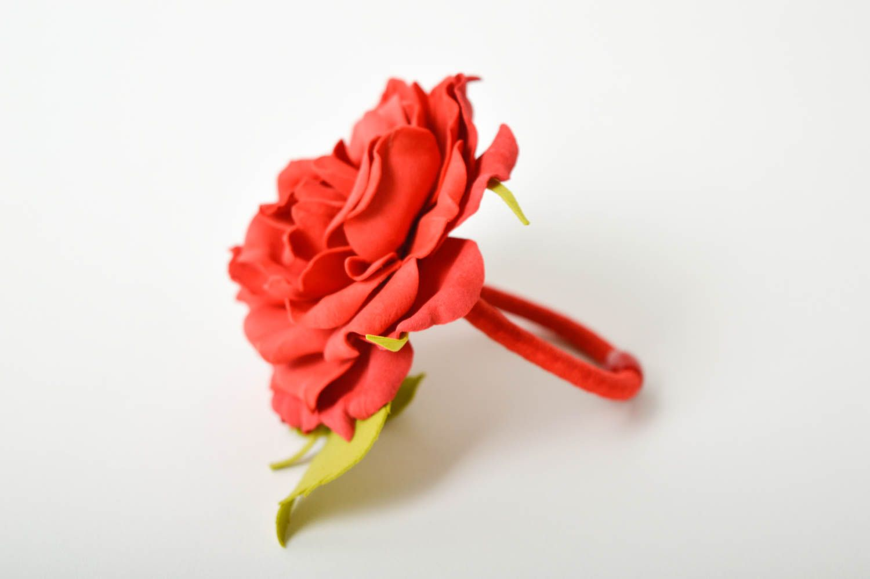 Handmade barrette foamiran hair clip flower hair accessories gift for girl photo 6