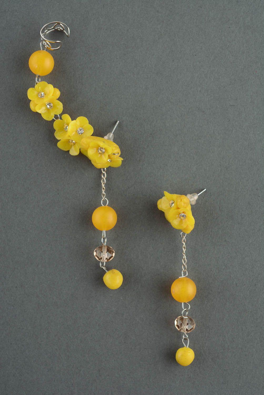 Cuff earrings Wild Flowers photo 2