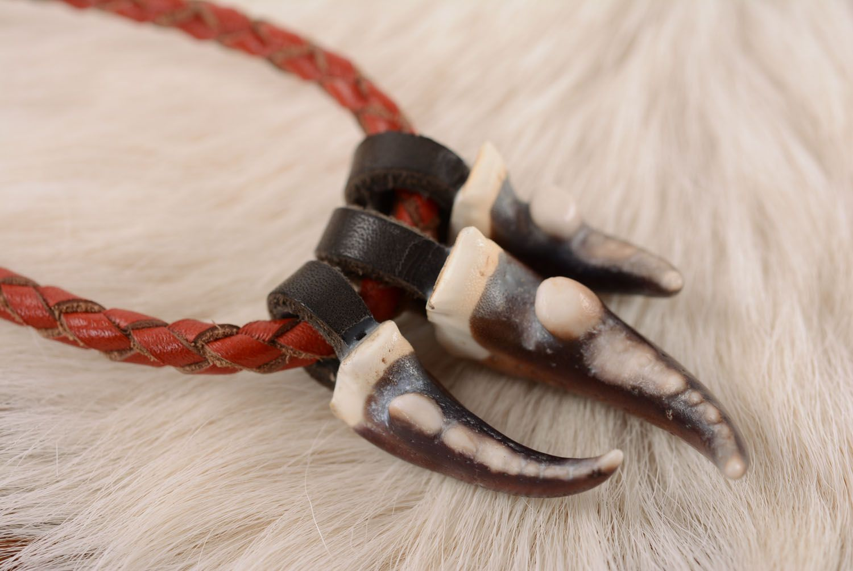 Leather pendant Hunter's Amulet photo 2