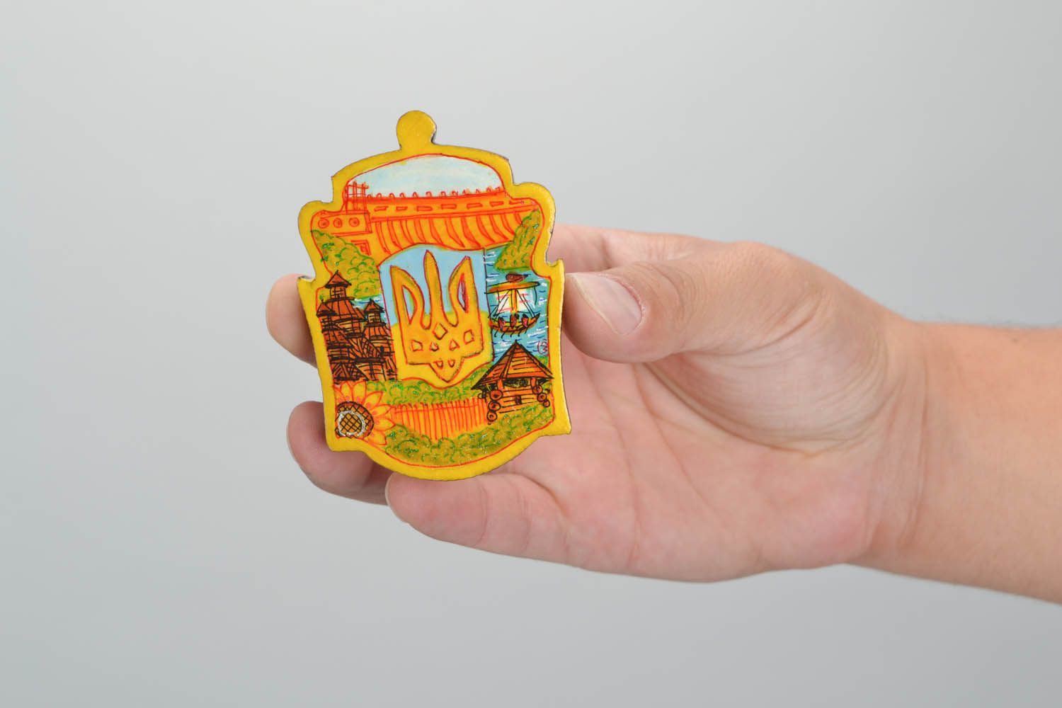Handmade magnet Emblem of Ukraine photo 2