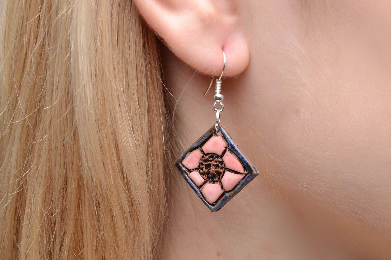 Unusual ceramic earrings photo 2