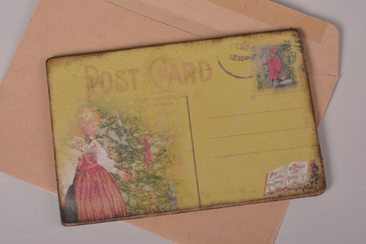 Beautiful handmade greeting cards Christmas card vintage post card small gifts photo 2